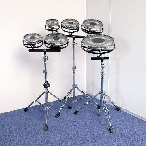 "Remo Rototoms 6"" - 8"" - 8"" - 10"" - 10"" - 14"" with 3 x Remo stands, Mint as New!"