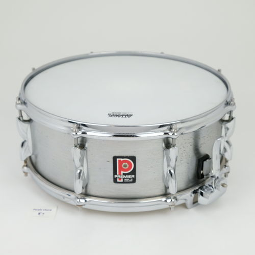 "Premier 2000 Brushed Aluminium 14""x 5,5"" snare drum from 1970's"