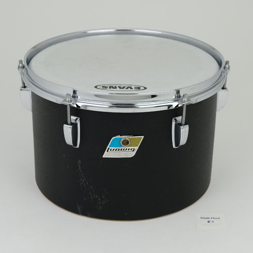 "1976 Ludwig Black Panther 12"" concert tom, 3-ply shell"