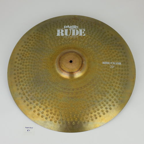 "22"" Paiste RUDE Ride Crash, 3170 grams from 1983"