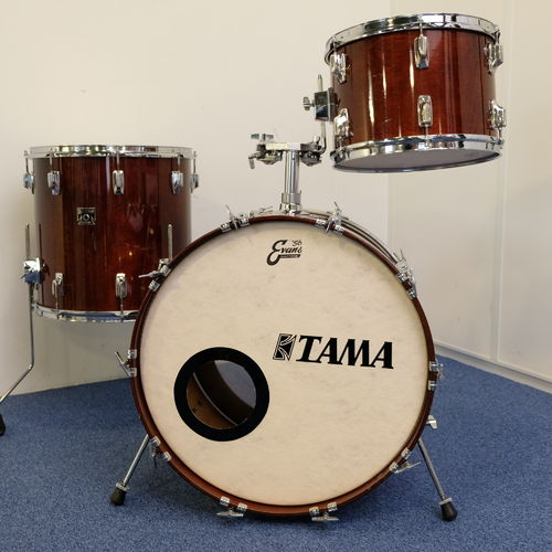 "Tama Superstar Super Mahogany drumset 22""- 13"" - 16"", Made in Japan from 1980's"