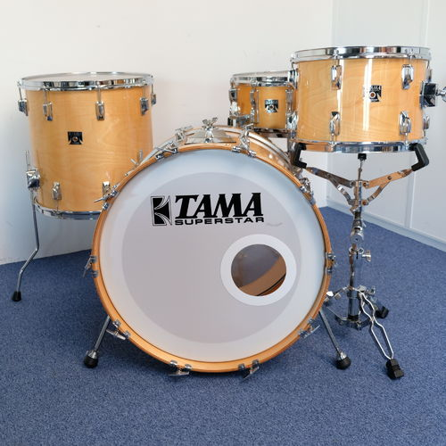 "Tama Superstar Super Maple drumset 22""- 13"" - 16"", Made in Japan from 1980's"