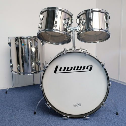 "1976 Ludwig Big Beat Stainless Steel 22"" - 12"" - 13"" - 16"", vintage drumkit"