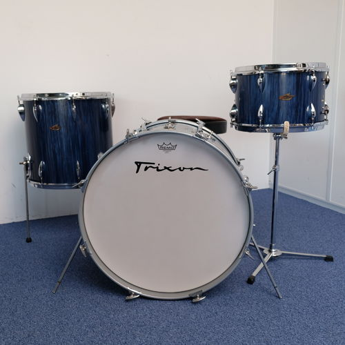 "Trixon Luxus drumset 22"" - 13"" - 16"" in Blue Stripes TX6, from 1960's"