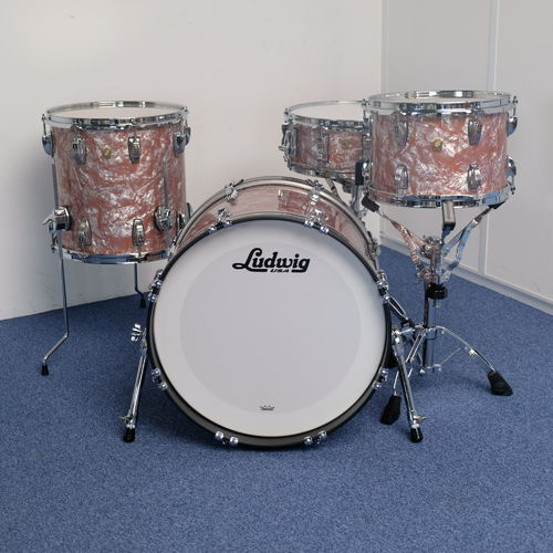 "Ludwig Classic Maple Rose Marine Pearl Downbeat 20"" - 12"" - 14"" - snare drum 14"" x 5"", NEW"