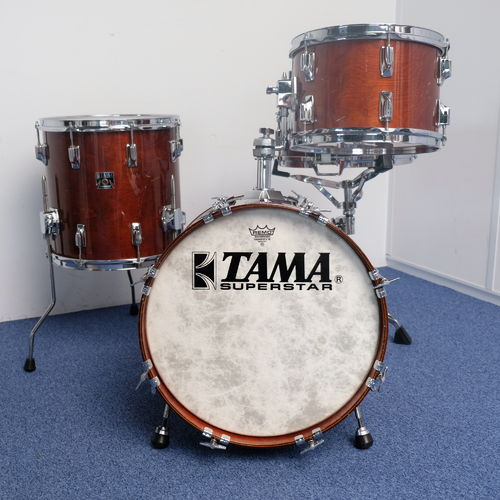 "Tama Superstar BOP Super Mahogany drumset 18""- 12"" - 14"", snare 14"" x 5"", Made in Japan from 1980's"