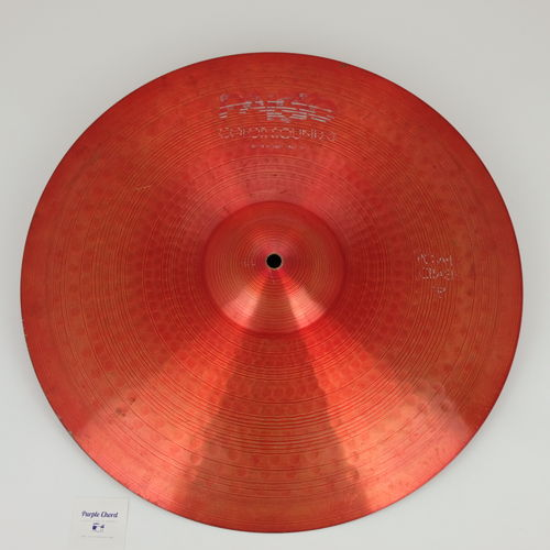 "18"" Paiste 2000 Color Sound 5 red Power Crash 1638 grams, from 1984"