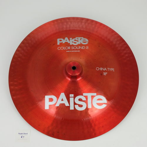 "18"" Paiste Color Sound 5 China Type, 1273 grams from 1984"