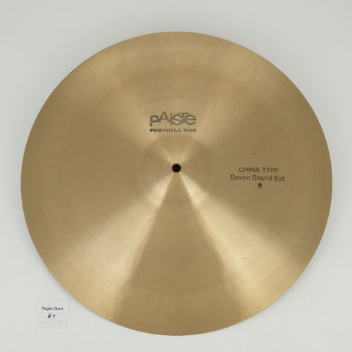 "18"" Paiste 602 China Type Seven Sound Set # 6, 1450 grams from 1975, RARE!"