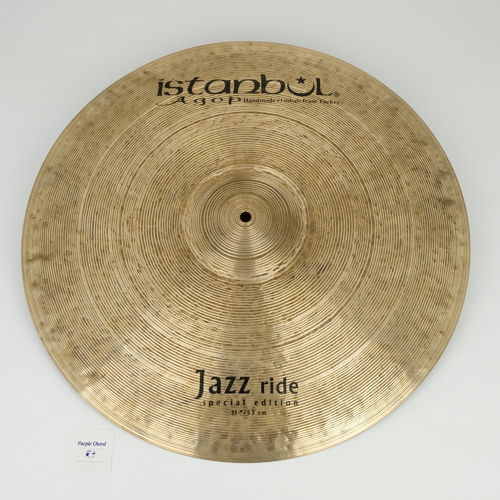 "21"" Istanbul Special Edition Jazz Ride, 2063 grams, demo"