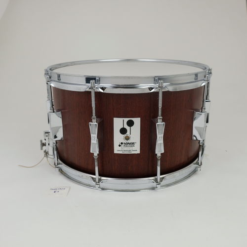 "Sonor Phonic Plus D518x MR snare drum 14"" x 8"", Mahogany Veneer from 1980's"