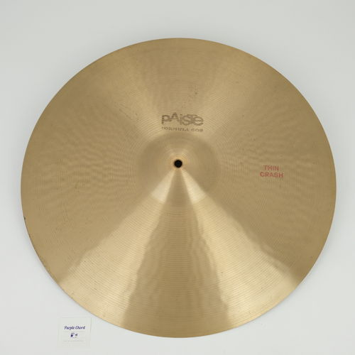 "20"" Paiste 602 Thin Crash 2015 grams, from 1979"
