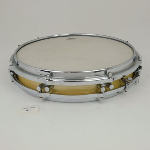 "1960's Sonor Pancake Snare Drum 14"" x 2,5""  white marble finish"